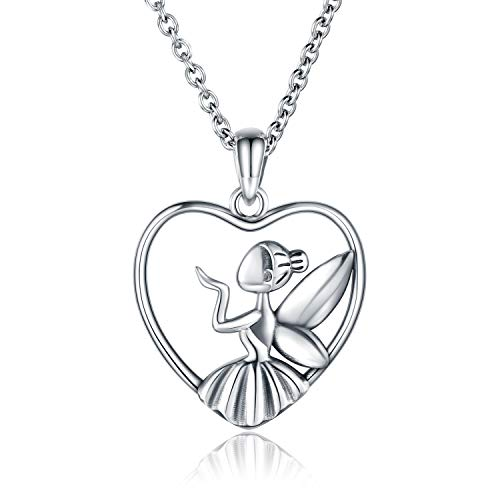 A Little Fairy Dust BellaMira Fairy Ballerina Angel Wings Urn Pendant Necklace for Ashes Memorial Charms Pendant Keepsake Cremation Jewelry
