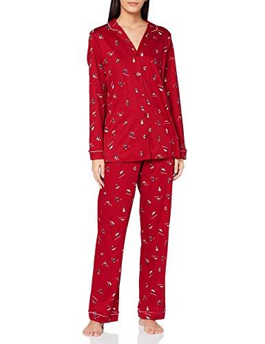 CALIDA Damen Winter Dreams Pyjamaset, Rio red, L