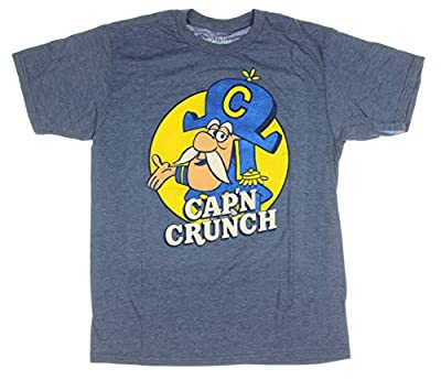 Cap'n Crunch Breakfast Cereal Original Logo Halloween Costume Funny Adult Mens Graphic T-Shirt Tee Apparel