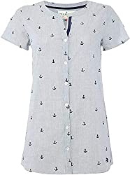 This item is ex high Street and the identifying labels have been cut or remove to prevent unlawful store returns and comply with UK resale law This ladies shirt has subtle feminine detailing. It will add a little nautical chic to your look. Collarles...