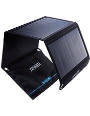 Anker PowerPort oplader op zonne-energie, 21 W, 2 poorten, USB, voor iPhone 7/7s/6s/6, iPad Air 2/mini 3, Galaxy S7/S6/S6 Edge en andere tablets, camera's enz.