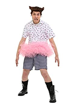 Adult Ace Ventura Tutu Costume with Wig Large