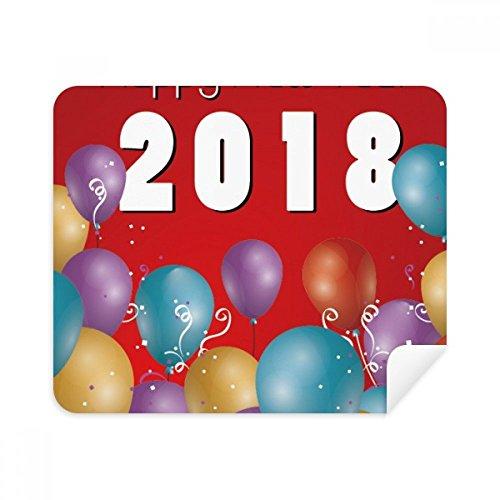2018 Ballon Jaar Van De Hond Gelukkig Nieuwjaar Telefoon Schermreiniger Bril Reinigingsdoek 2 stks Suede Stof