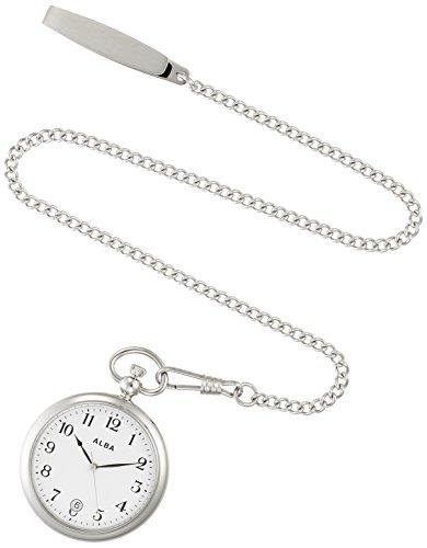 [セイコーウォッチ] 懐中時計 アルバ ポケットウオッチ シルバー 日付表記付 アラビア数字 AQGK447