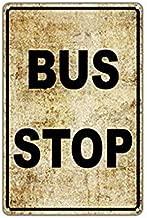 Sylty Bus Stop No Car Parking Public Transportation Vintage Retro Metal Wall Decor 8x12 inch Sign