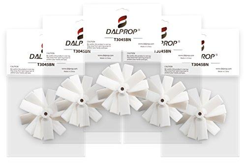 Original DAL Propeller - Extreme Ersatzpropeller für Micro Quadcopter, Multicopter, Quadrocopter und FPV Racer Micro Quads, Mini Quads - Triblade, Cyclone, Bullnose - Foxagon (T3045BN, White)