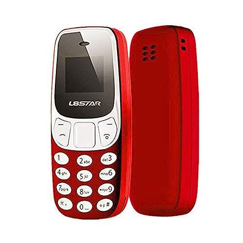 Mini Teléfono Móvil con Doble SIM y Cambiador de Voz Distorsionador L8STAR Diminuto Enano el más pequeño del Mundo (Rojo)