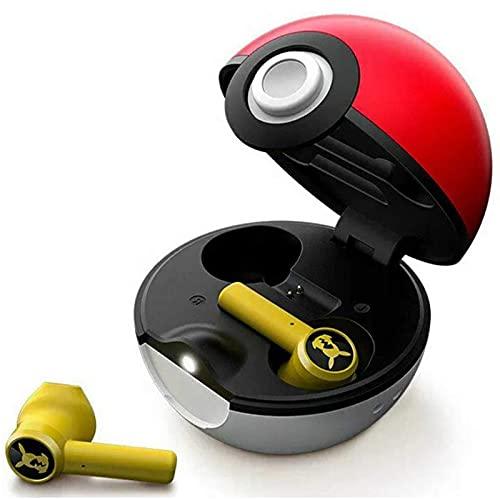 casque bluetooth pokémon, écouteurs intra-auriculaires sans fil avec suppression du bruit, couplage automatique Bluetooth 5.0, conception de chargeur Pokeball, étanche IPX4, faible latence 60 ms