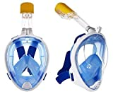Abhsant Full Face Snorkel Mask Sea View 180° Panoramic Viewing Snorkeling Diving Mask