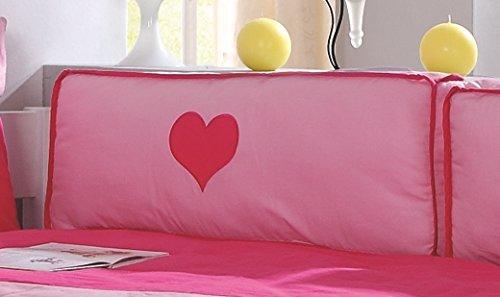 Froschkönig24 Seitenkissen Kissen Kinderkissen für Spielbett Hochbett Etagenbett Pink/Rosa