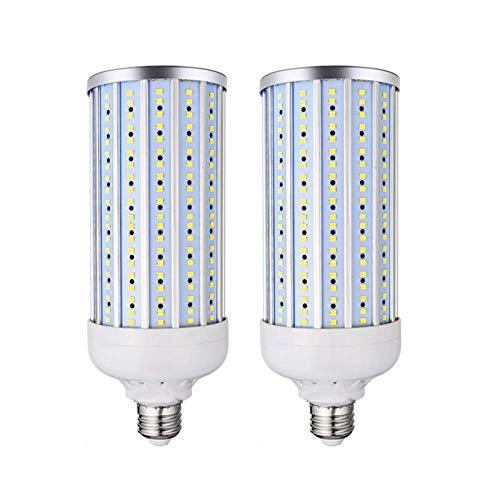 80W Super Bright LED Corn Light, 3000K Blanco cálido / 6000K Bombilla iluminación Blanca fría, 8000 lúmenes/portalámparas, Utilizado para iluminación Comercial áreas Grandes, Paquete 2, Blanco cáli