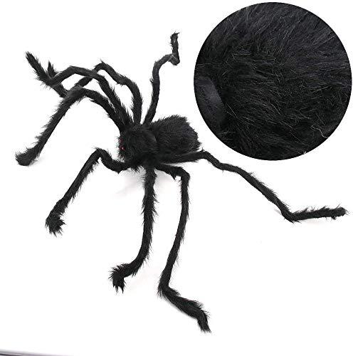 Skystuff - Disfraz de araña de Halloween para mascotas y 1 correa para perro, ropa de araña para gatos y perros pequeños, decoración de fiesta de Halloween
