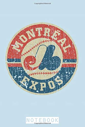 Montreal Expos 1969 Notebook: Lined College Ruled Paper, Planner, Diary, 6x9 120 Pages, Journal, Matte Finish Cover