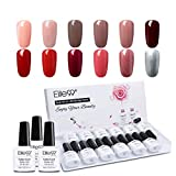 Elite99 Vernis Semi permanent 3 en 1 One step gel Lot de Vernis à Ongles 12pcs tout en 1 Nail Gel UV LED Soakoff Kit Manucure Pour Ongle, 10ml kit12