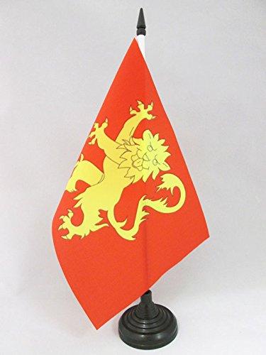 AZ FLAG TISCHFLAGGE DÉPARTEMENT AVEYRON 21x14cm - AVEYRON TISCHFAHNE 14 x 21 cm - flaggen