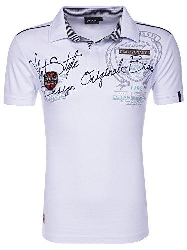 behype. Poloshirt Deciding T-Shirt 20-2687 Weiß XL