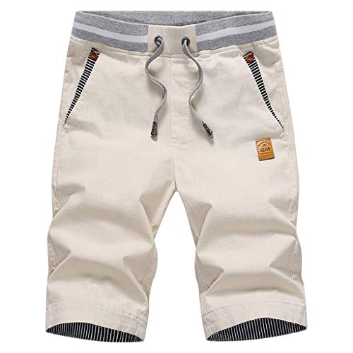 Herren Sweatshorts/Skxinn Männer Sommer Sweat Short Baumwolle Kurze Hose JogginghoseSweatpant Sport Shorts Kordelzug Regular Fit M-4XL Ausverkauf(Grau,4XL)