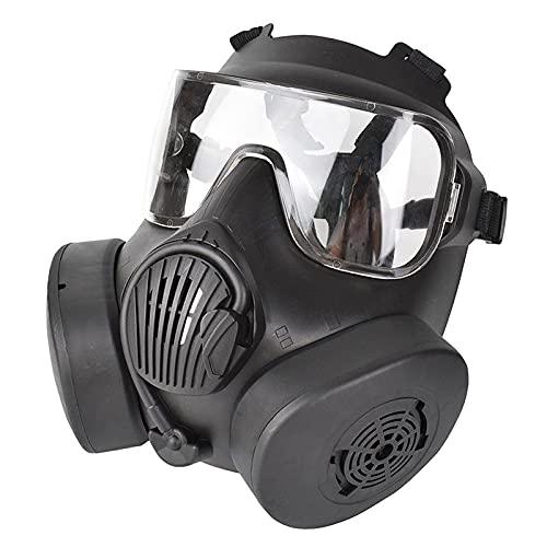 Sharplace Paintball Maske, Maske Volle Gesicht mit PC Objektiv für BB Jagd CS Spiel Paintball, Outdoor-aktivitäten - Black_Clear Objektiv