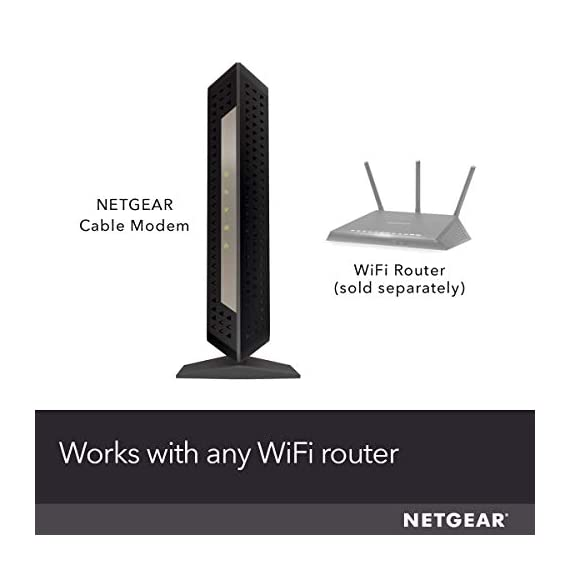 NETGEAR Cable Modem CM1000 - Compatible with All Cable Providers Including Xfinity by Comcast, Spectrum, Cox | for Cable… 2 Compatible with all major cable internet providers: Including certification by Xfinity by Comcast, COX, and Spectrum. Not compatible with Verizon, AT&T, CenturyLink, DSL providers, DirecTV, DISH and any bundled voice service. Save monthly rental fees: Model CM1000 replaces your cable modem saving you up to dollar 168/year in equipment rental fees. Built for ultimate speed: Best for cable provider plans up to 1 gigabit speed.