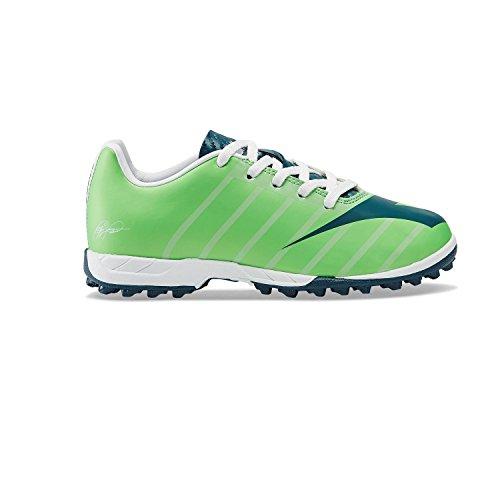 Diadora Rb2003 R Tf Jr, Fußballschuhe für den Innenbereich, Unisex - Kinder, Mehrfarbig - C7677 Verde - Größe: 35 EU