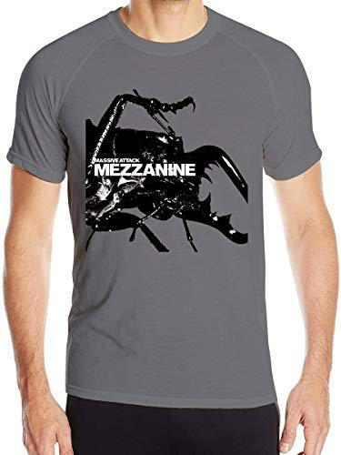 Massive-Attack T-Shirt Herren Quick Dry T-Shirt Military Tee Shirt, Männer Kleidung Wandershirts Kurzarm Gr. 56, Deep Heather