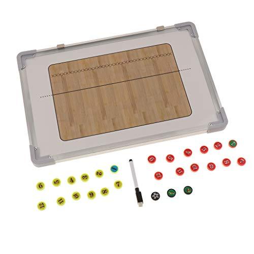 T TOOYFUL Handball Taktiktafel Fussball Coach-Board mit Stifte und 27 Stück Magnete 45,5 × 30,5cm