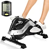 ANCHEER Pedal Exerciser, Under Desk Cycle Mini Exercise Bike for Leg and Arm Exercise with LCD Monitor