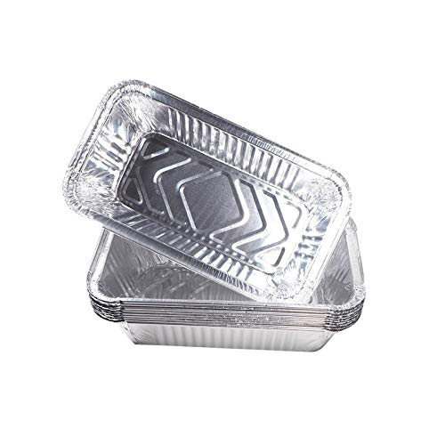 ZGH 100 Pcs Aluminum BBQ Foil Pans, Heavy-Duty Disposable Aluminum Foil, Rear Grease Cup Liners, Compatible with Blackstone Accessories 28 and 36 inch BBQ Griddle