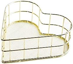 SKGOFGODcw Home Storage Bins Creative Heart-shaped Storage Basket, Metal Storage Basket, Simple Wrought Iron, Sundries Cos...