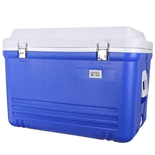 LTINN Glacière rotomoulée de 60 litres, glacière de Plage Portable avec poignées durables, glacière, Excellent Cadeau pour Le Golf en Plein air, Le Camping, Le Pique-Nique, la pêche en mer-Bleu