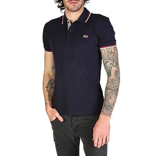 Napapijri TALY Stretch Stripe T-Shirts & Poloshirts Herren Blau - XXL - Polohemden