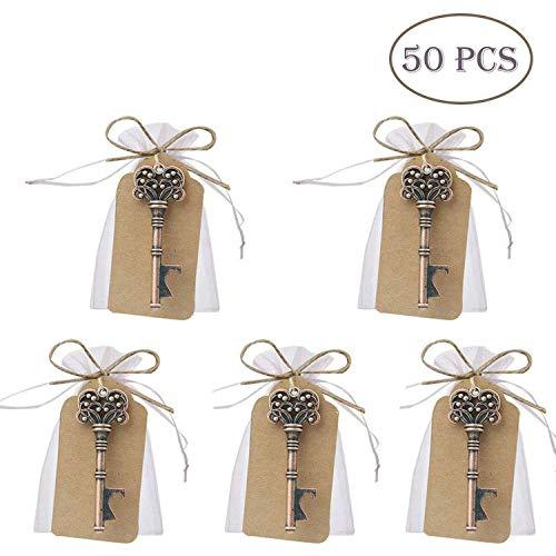 50 pcs regalos para bodas, diseño de llave Skeleton con...