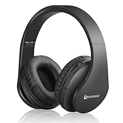 Uomeod Wireless Bluetooth Over Ear Headphones, Foldable Wireless and Wired Stereo Headset with Built-in Mic, Micro SD/TF, FM Radio, Soft Earmuffs & Light Weight for Cell Phone PC from Uomeod