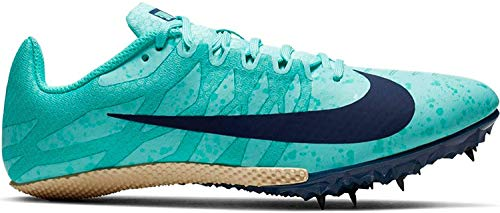 Nike Damen WMNS Zoom Rival S 9 Leichtathletikschuhe, Mehrfarbig (Aurora Green/Blue Void/Hyper Jade 000), 41 EU
