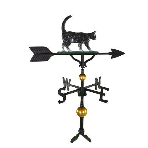 Montague Metal Products Deluxe Wetterfahne mit farbigem Katzen-Ornament, 81 cm
