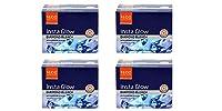 Pack of 4 - VLCC Insta Glow Diamond Bleach With diamond bhasma Sparkling fairness With pre bleach cream & post bleach pack - 30g