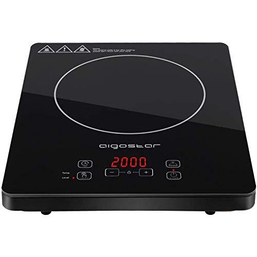 Aigostar Blackfire 30IAV - Placa inducción portátil multifunción con 2000 Watios de...