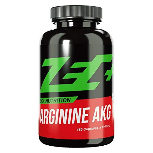 ZEC+ Arginin AKG – 180 hochdosierte Kapseln mit 1000 mg L-Arginin-Alphaketoglutarat, hochwertige AAKG Aminosäuren Kapseln als Pre Workout Supplement für Bodybuilding & Kraftsport, Made in Germany