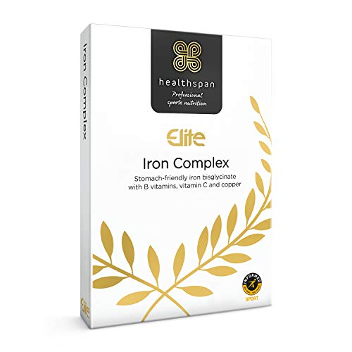 Iron Complex   Healthspan Elite   120 Tablets   All Blacks Official Partner   Added Vitamin C, Copper & B Vitamins   Informed Sport Accredited   Vegan