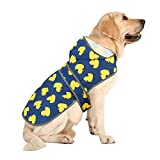 Waterproof Material: Our dog rain jacket was made by polyester with waterproof coating, keep your dog dry, warm, comfortable and FASHION when walking in rainy or snowy days. Lightweight & Adjustable: Our dog rain coat is super lightweight, the adjust...