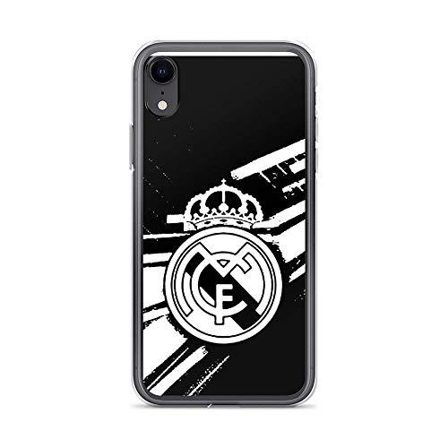 Roadiress Real Madrid White Compatible con iPhone 12/12Pro MAX 12 Mini 11 Pro MAX XR XS/XsMax SE 2020 7 8 6/6s Plus Samsung Series Funda Protectora