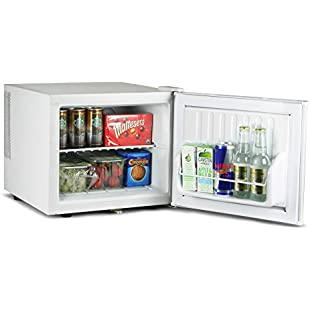 bar@drinkstuff ChillQuiet Mini Fridge 17ltr White - Lockable - Quiet Running Table Top Mini Bar