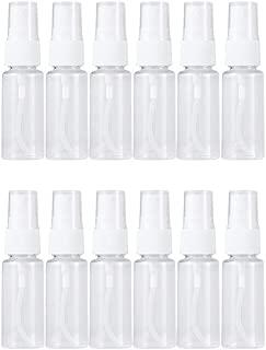 UPKOCH 12Pcs 60ml Mini Spray Bottle Transparent Refillable Bottle Atomizer Container for Essential Oils Fragrance Perfume Scent