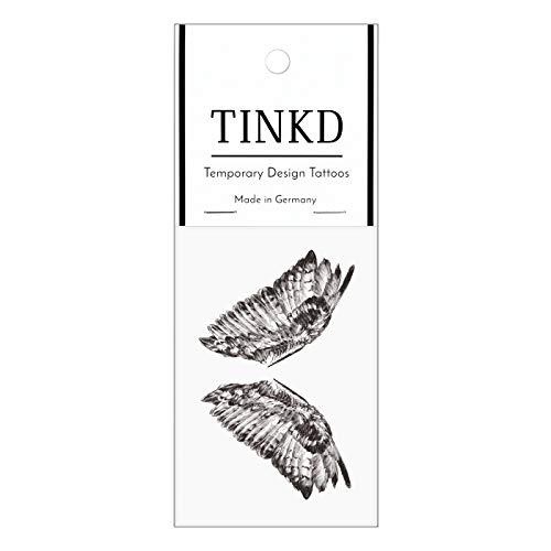 TINKD Engel-Tattoo - Temporäres Engelsflügel Klebetattoo - Made in Germany