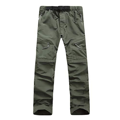 VPASS Pantalones Hombre,Pantalones de Trekking Deportes al Aire Libre Trabajo Pantalones Jogging Desmontable Pants