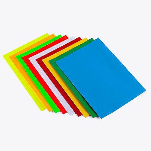 9 - Farben Set Etiketten Selbstklebendes Farbpapier Multicut Vellum in A4 Format (Artikel:ET9F)