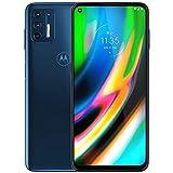 Motorola Moto G9 Plus 128GB, 4GB RAM, XT2087-1, 64MP Camera System, 6.81 inches, LTE Factory Unlocked Smartphone - International Version (Blue Indigo)