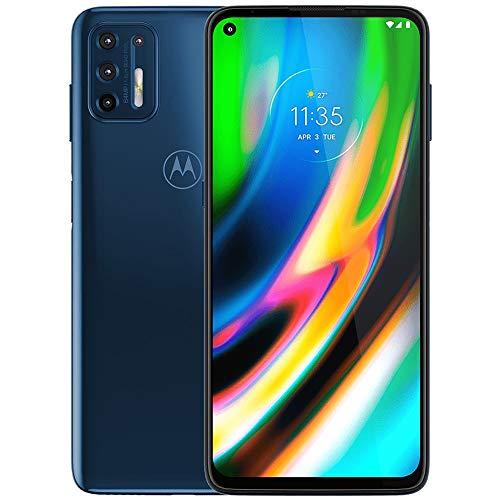 Moto G9 Plus | Unlocked | International GSM only | 4/128GB | 64MP Camera | 2019 | Blue Indigo
