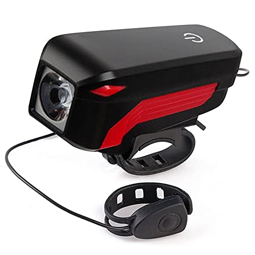 Bici Faro Bocina T6 LED, USB recargable 4 modos Bicicletas delantera cabeza...