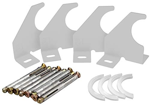 Ontwerper Verticale kolom Enkele arm Universele Radiator Beugels (92mm, Wit)
